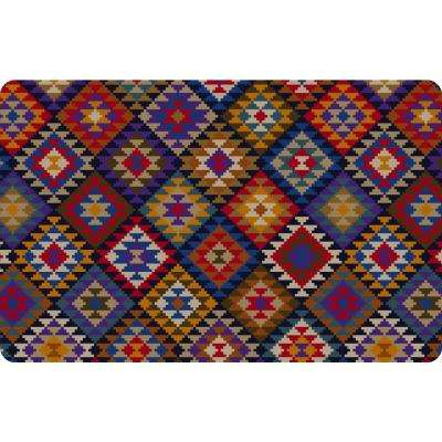 Printed Kilim Blanket 18 in. x 27 in. Mat
