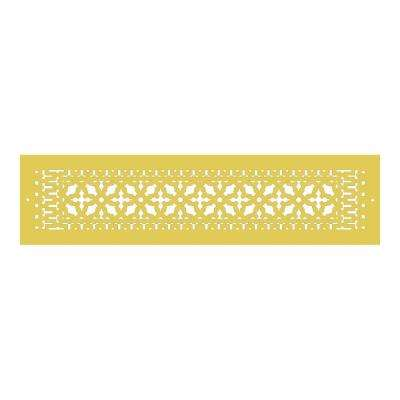 Scroll Series 30 in. x 6 in. Aluminum Grille, Sun Gold with Mounting Holes