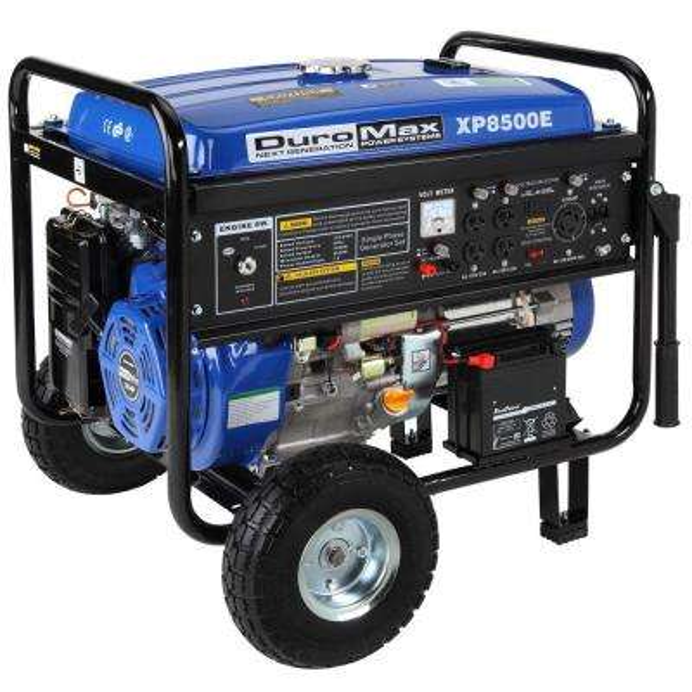 8,500-Watt Gasoline Powered Electric Start Portable Generator with Wheel Kit
