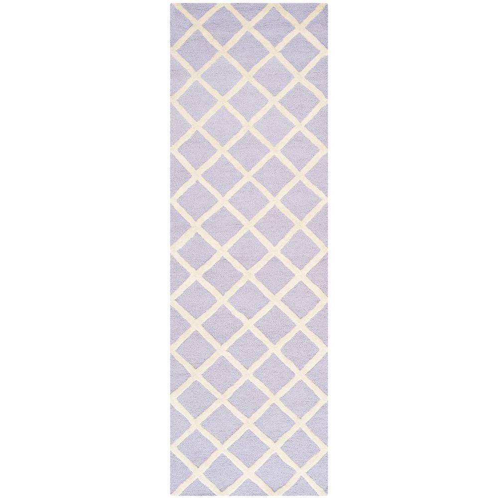 Safavieh Cambridge Lavender/Ivory 2 ft. 6 in. x 8 ft. Runner