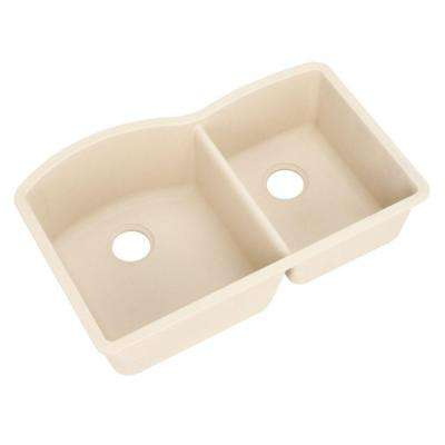 Diamond Undermount Granite Composite 32 in. 0-Hole 1-3/4 Bowl Kitchen Sink in Biscotti