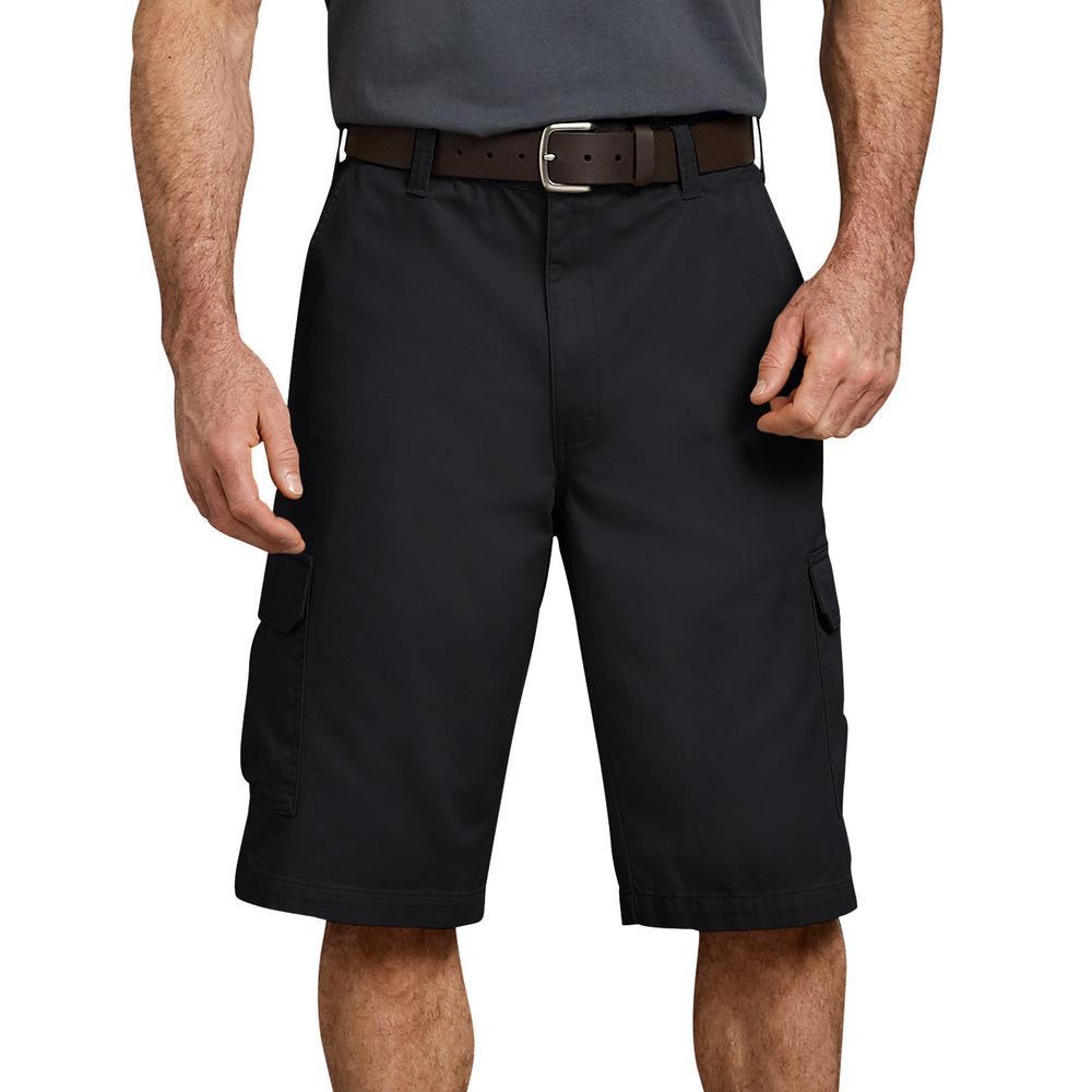 "Men's Rinsed Black 13"" Loose Fit Cargo Short"