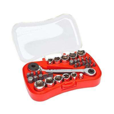 1/4 in. Drive Micro Driver and Socket Set (35-Piece)