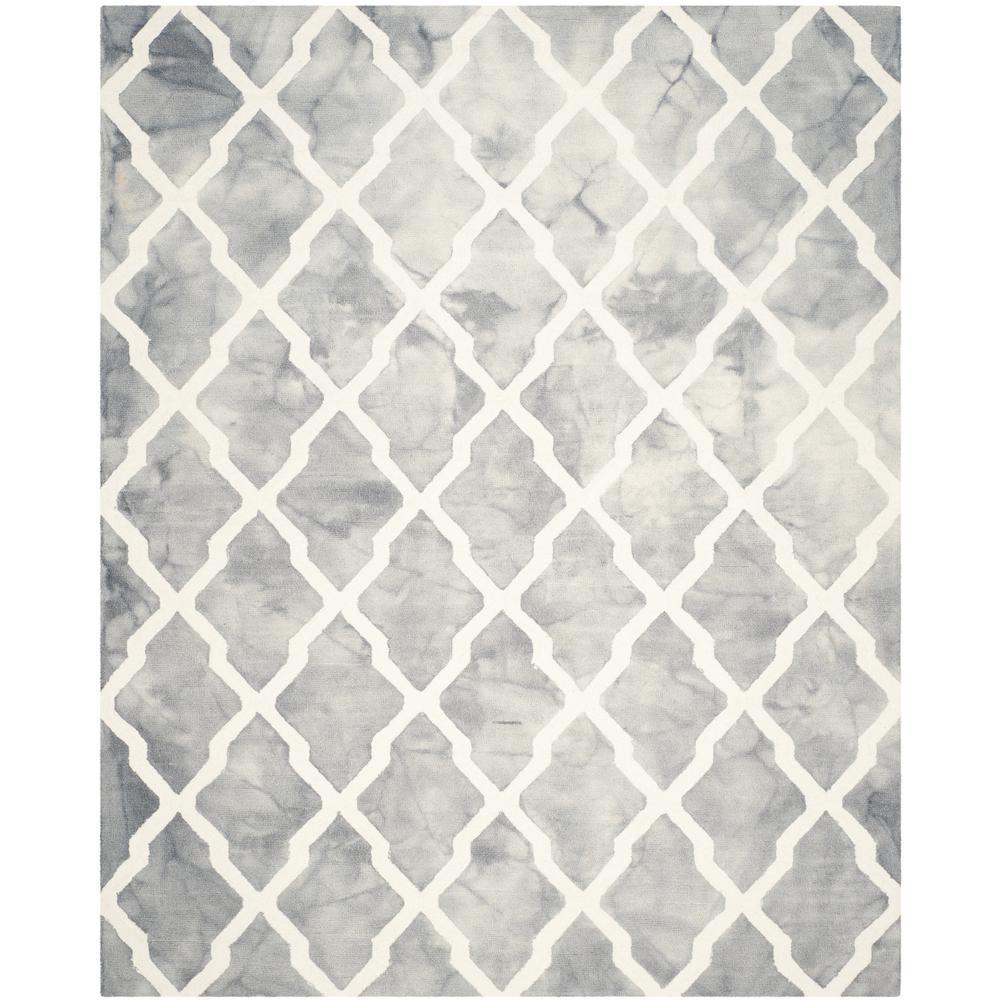Dip Dye Gray/Ivory 8 ft. x 10 ft. Area Rug