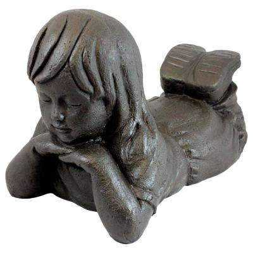 Girl Day Dreamer in Bronze Finish