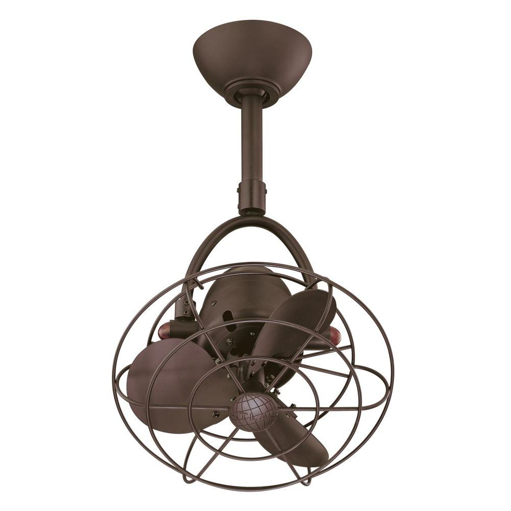 Gale Series 13 in. Textured Bronze Indoor Ceiling Fan