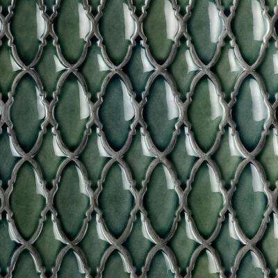Oracle Valor Deep Emerald 9-1/4 in. x 9-3/8 in. x 10mm Glazed Ceramic Mosaic Tile