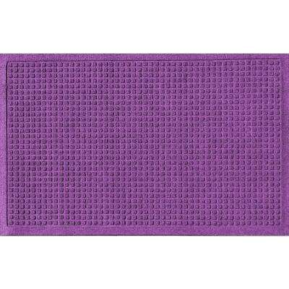 Purple 24 in. x 36 in. Squares Polypropylene Door Mat