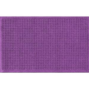 Aqua Shield Purple 24 inch x 36 inch Squares Polypropylene Door Mat by Aqua Shield