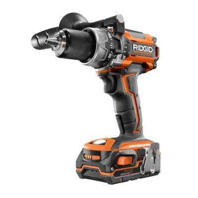 18-Volt Lithium-Ion Cordless 1/2 in. Compact Brushless Hammer Drill with (2) 1.5 Ah Batteries and Charger