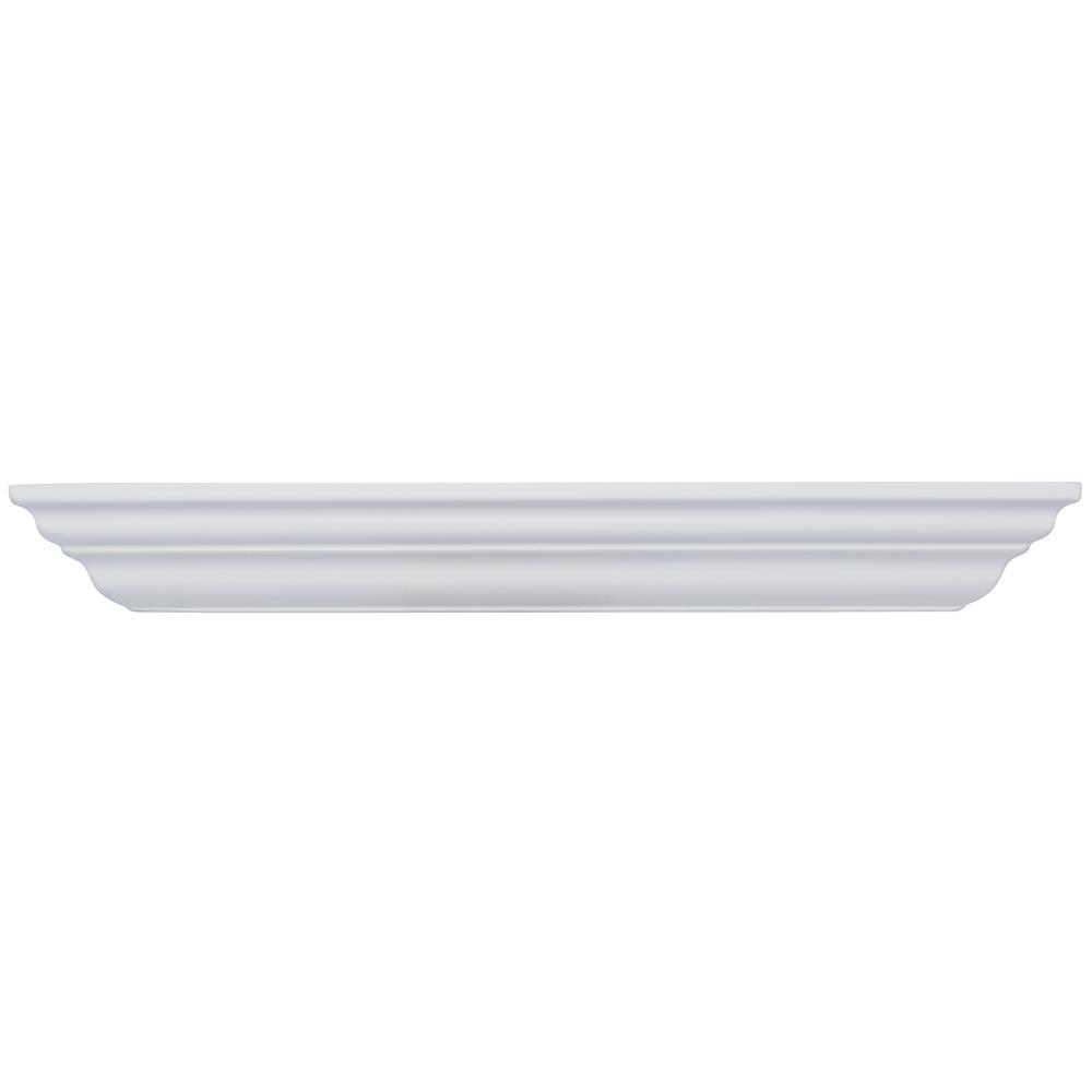 Classic Crown 23.625 in. W x 5 in. D Floating White