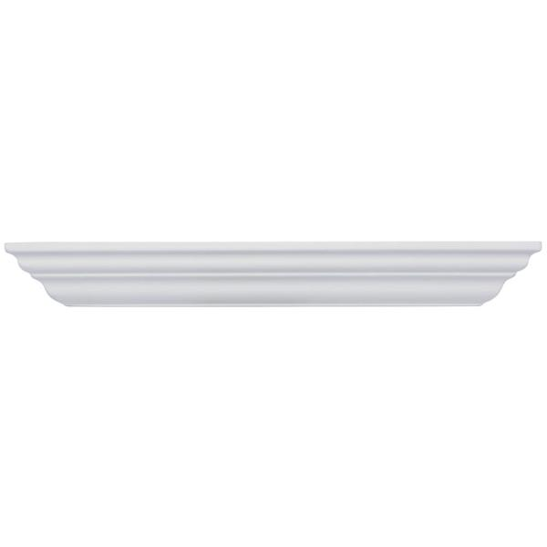 Classic Crown 23.625 in. W x 5 in. D Floating White Crown Decorative Shelf