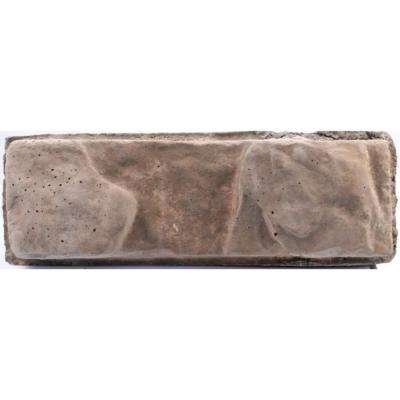 Pantheon 8.25 in. x 16 in. x 6 in. Concrete Brown Retaining Wall Garden Block