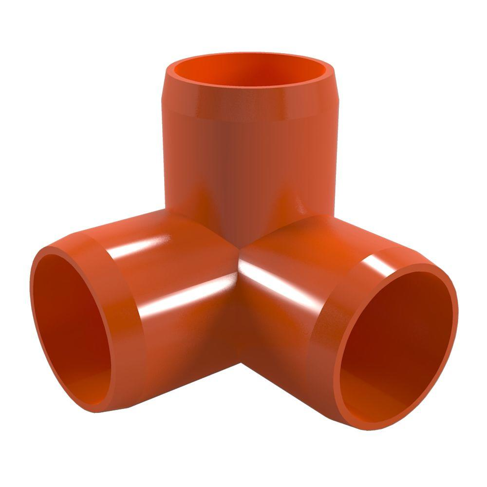 1-1/4 in. Furniture Grade PVC 3-Way Elbow in Orange (4-Pack)