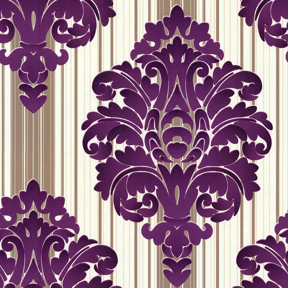 The Wallpaper Company 56 sq. ft. Jade Damask Wallpaper-DISCONTINUED