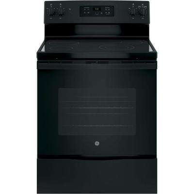 30 in. 5.3 cu. ft. Electric Range in Black