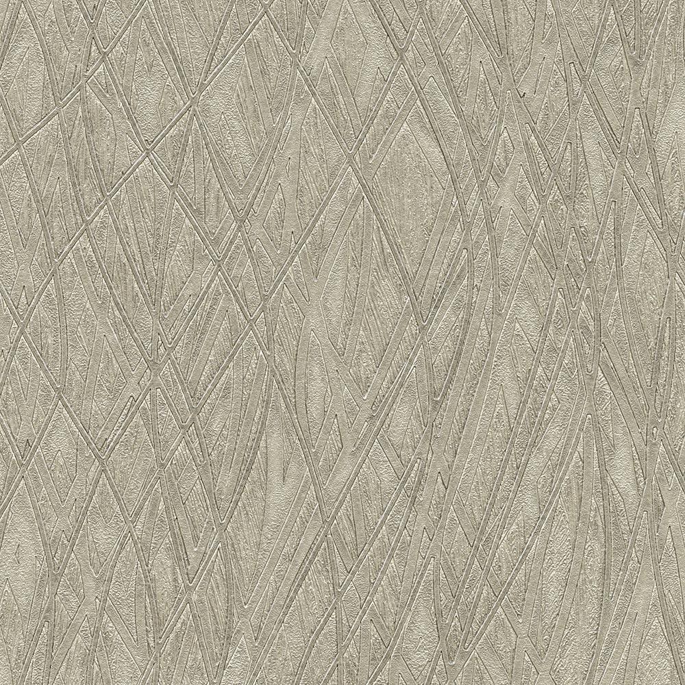 8 in x 10 in Allegro Silver Embossed Wallpaper Sample2758