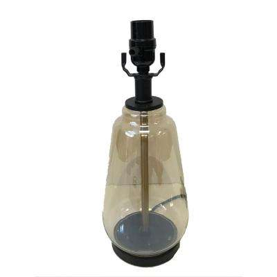 Mix and Match 15.75 in. Glass Table Lamp Base with Bronze