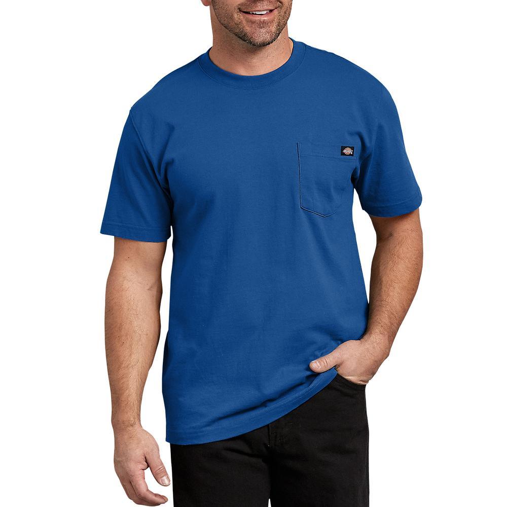75f99f93945be Dickies Men's Royal Blue Short Sleeve Heavyweight T-Shirt-WS450RB 3X ...