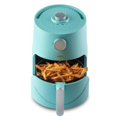 3Qt Teflon-Free Premium Ceramic Teal Air Fryer with Extended Recipe Book including Favorite Meals and Vegan and Keto