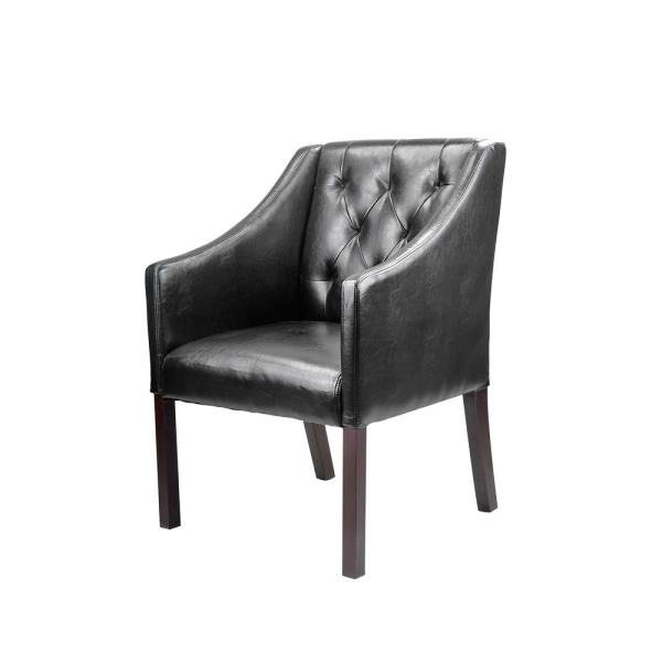Corliving Antonio Black Bonded Leather