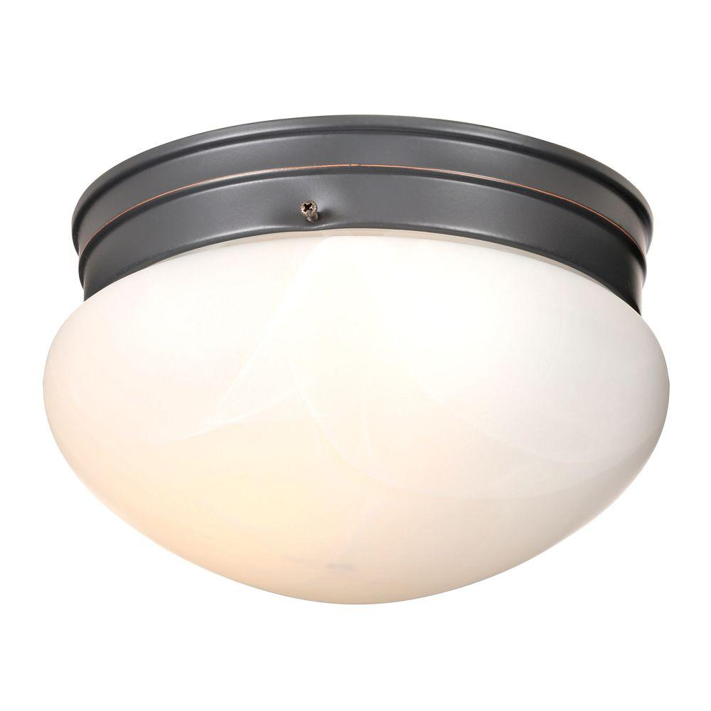 2 Light Ceiling Fixture: Design House Millbridge 2-Light Oil Rubbed Bronze Ceiling