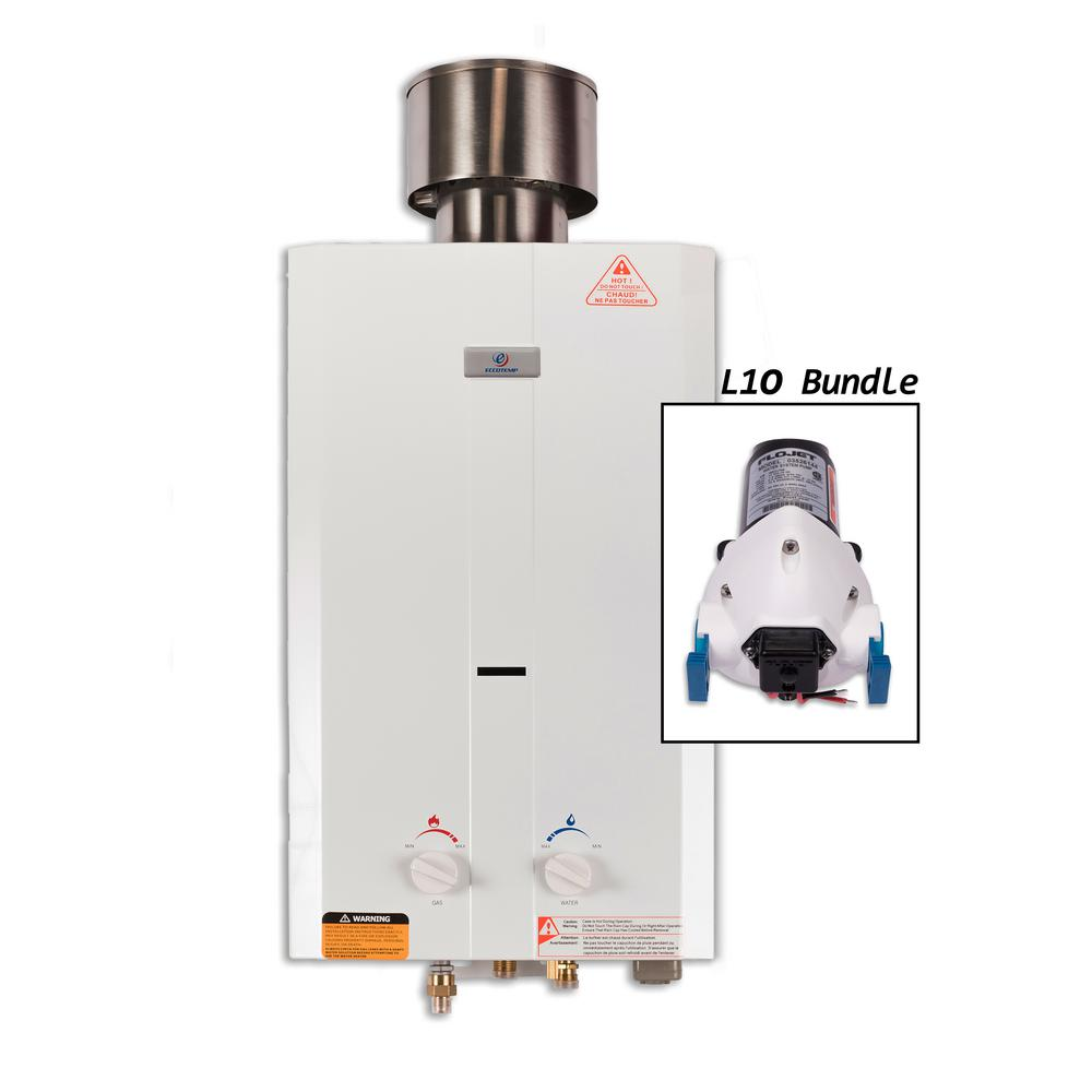 Eccotemp L10 Portable Tankless Point-Of-Use Water Heater ...