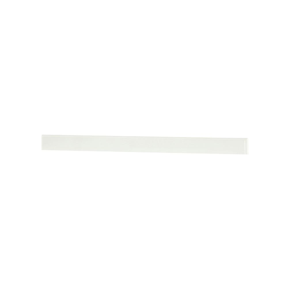 Hampton Harbor 44 in. Marble Backsplash in White