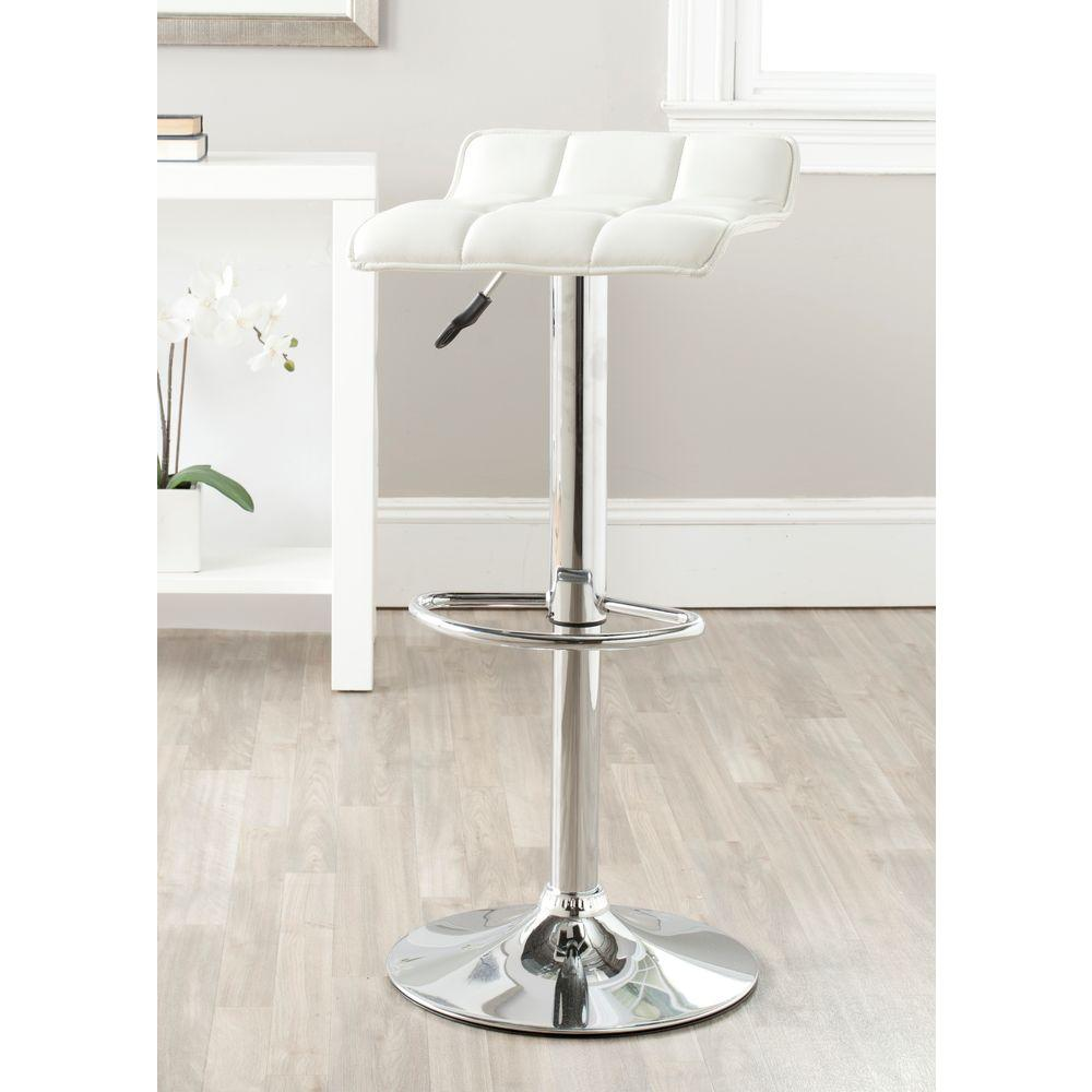 Safavieh Lamita Adjustable Height Chrome Swivel Cushioned