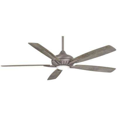 Dyno XL 60 in. Integrated LED Indoor Burnished Nickel Smart Ceiling Fan with Light Kit with Hand Held Remote Control