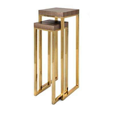 Markov Gold Stainless Steel Stands (Set of 2)