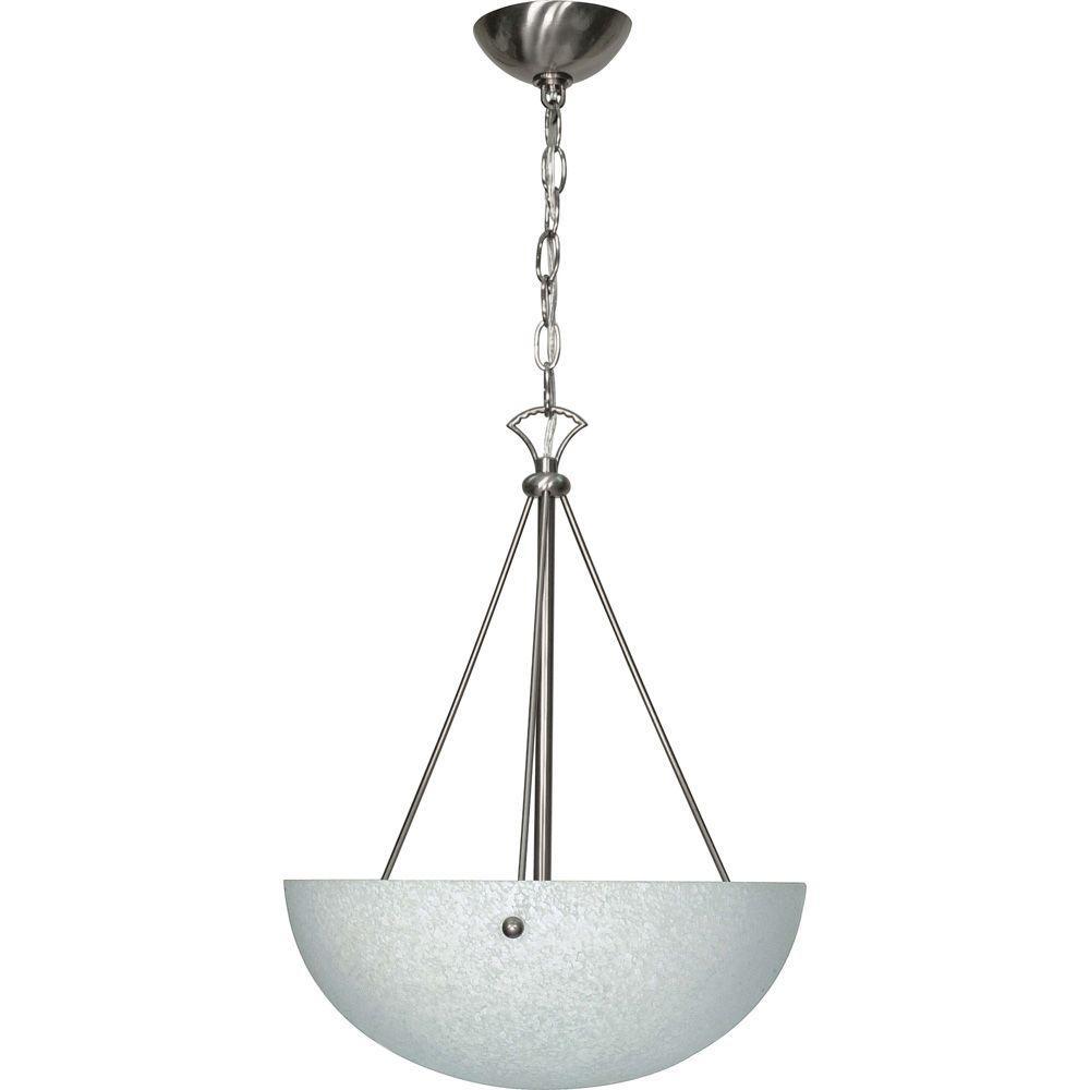 Glomar 3-Light Brushed Nickel Incandescent Ceiling Pendant