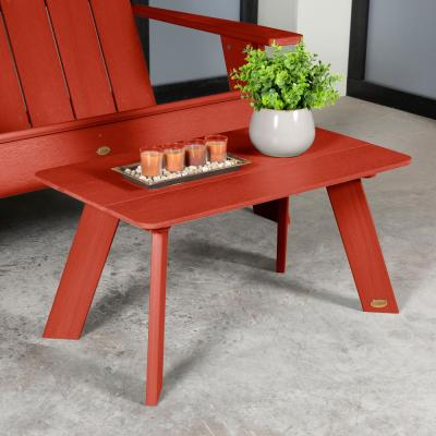 Barcelona Rustic Red Plastic Outdoor Coffee Table