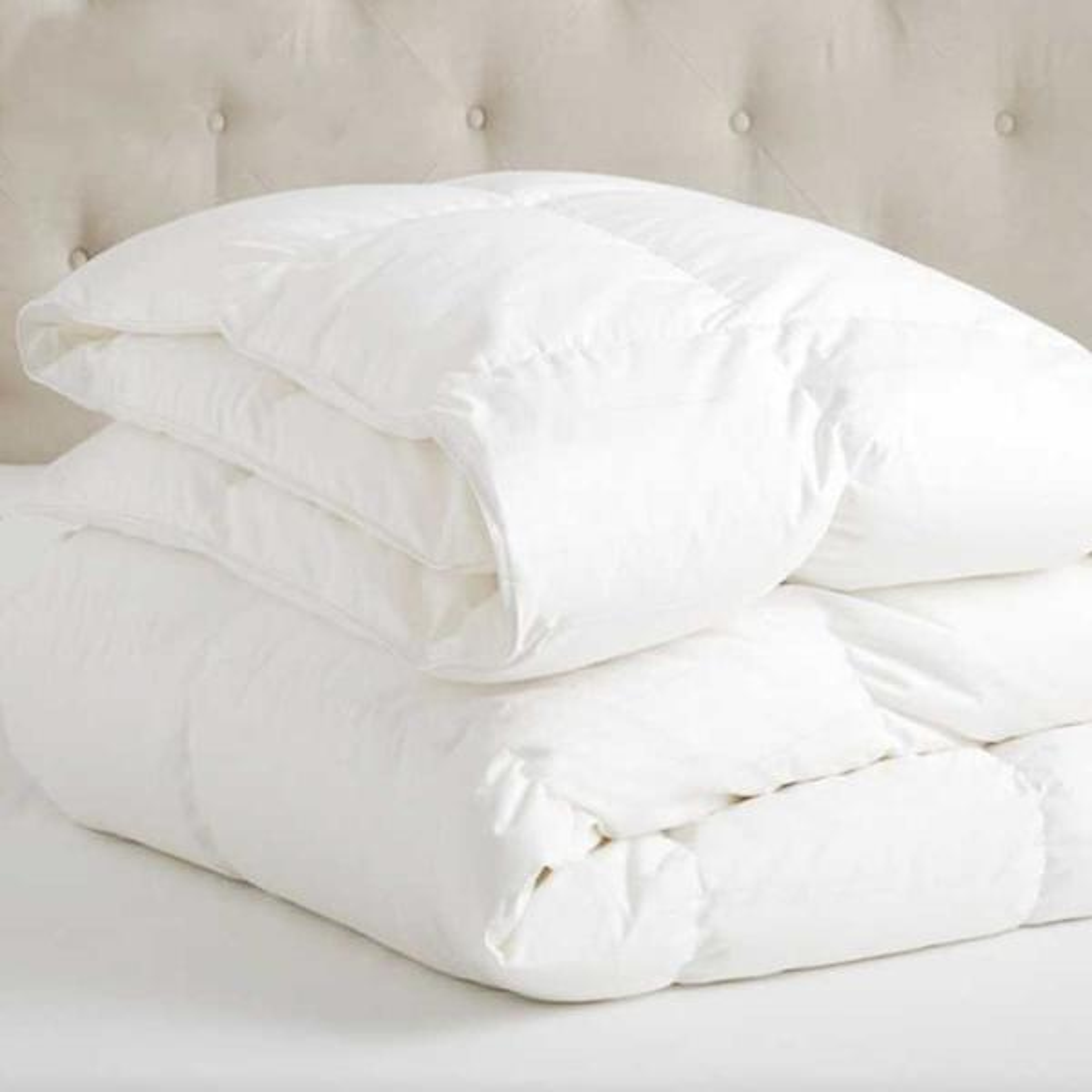 A1HC White Twin Organic Cotton 3-in-1 Customizable Wool Duvet Insert