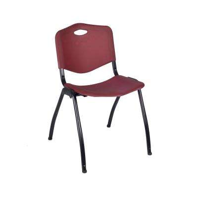 M Burgundy Stack Chair