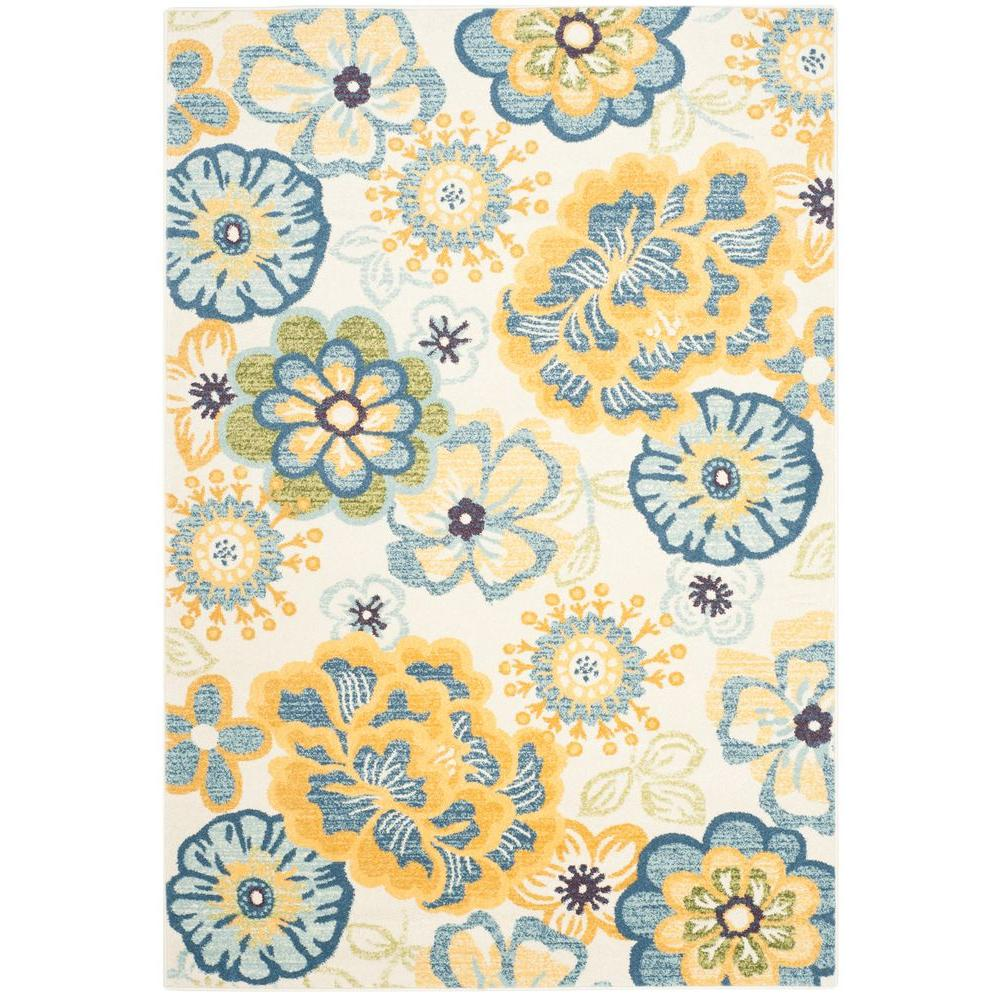Safavieh Evoke Creme/Gold 5 ft. 1 in. x 7 ft. 6 in. Area Rug