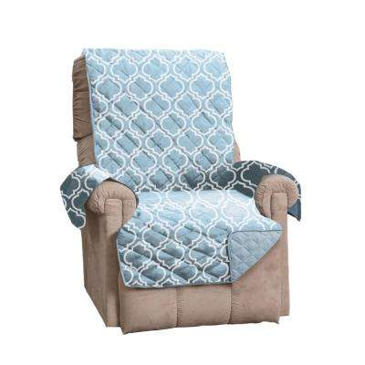 Adalyn Collection Marine Blue Printed Reversible Recliner Furniture Protector