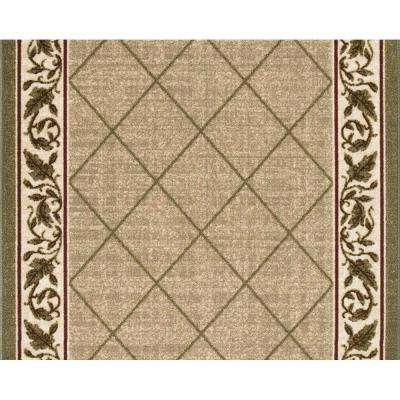 Regent Tan 26 in. x 70 ft. Roll Rug Runner