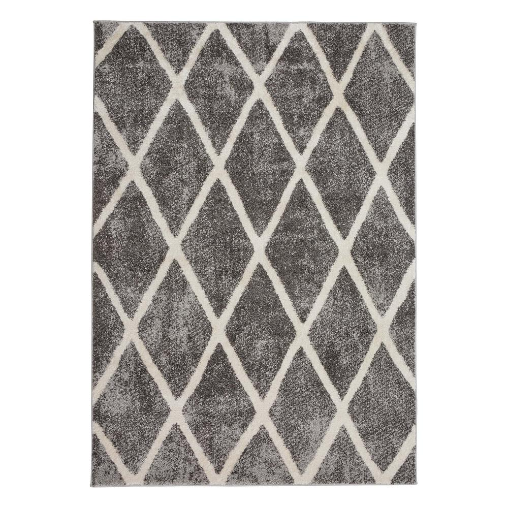 Home Decorators Collection Gray Diamond 5 ft. x 7 ft. Indoor Area Rug