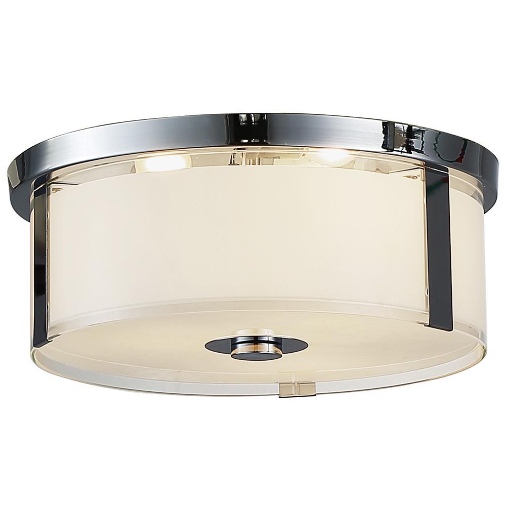 Bailey I 3-Light Chrome Flush Mount Light