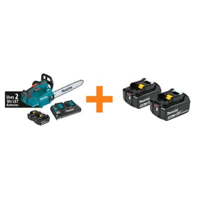 16 in. 18V X2 (36V) LXT Lithium-Ion Brushless Top Handle Chain Saw Kit 5.0Ah with Bonus 18V LXT Battery Pack 5.0Ah(2-Pk)