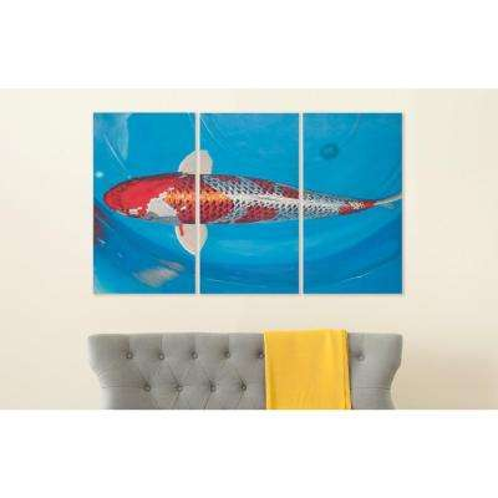 "32 in. x 18 in. ""Go Fish"" Wall Art"