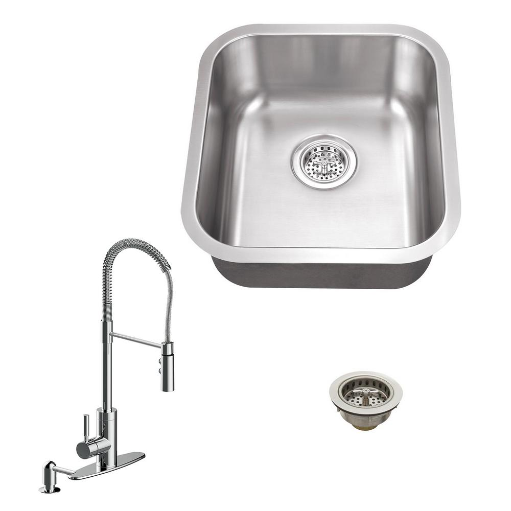 kitchen sink polish all in one undermount stainless steel 16 125 in single 2832