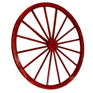 Vintiquewise 42 inch x 1.4 inch Decorative Antique Red Wagon Garden Wheel by Vintiquewise
