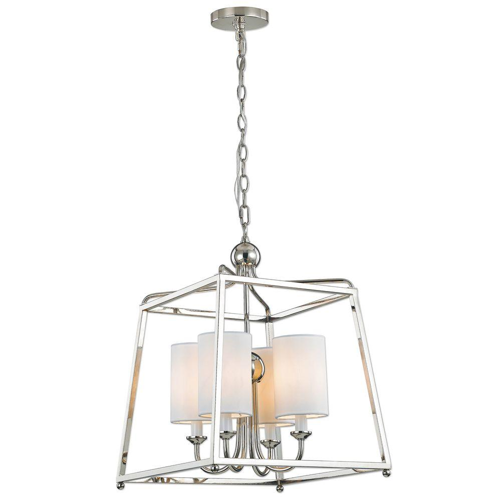 Decor Living Wagner 4-Light Polished Nickel Pendant - Decor Living Wagner 4-Light Polished Nickel Pendant-7502P-032