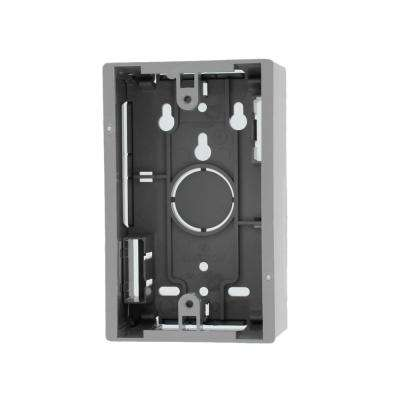 1-Gang 1.89 in. Box Depth Surface Mount Back Box, Gray