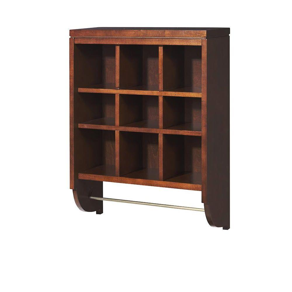 Martha Stewart Living Craft Space 28 in. x 21 in. Sequoia 9-Cubbies Open Wall Mounted Storage