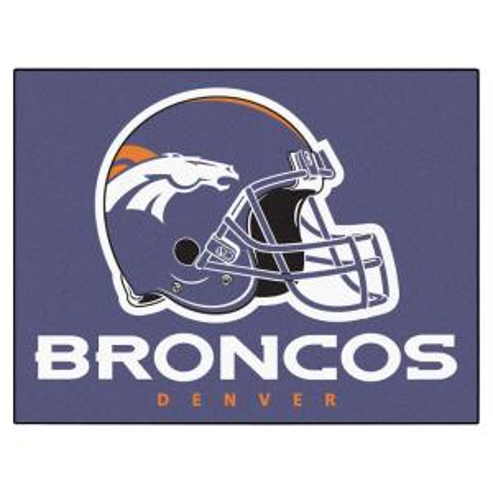 NFL Denver Broncos 19 in. x 30 in. Starter Mat Indoor Accent Rug