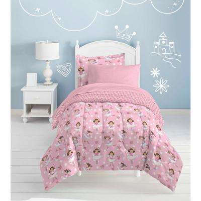 Tippy Toes 7-Piece Pink Full Bed in a Bag Set