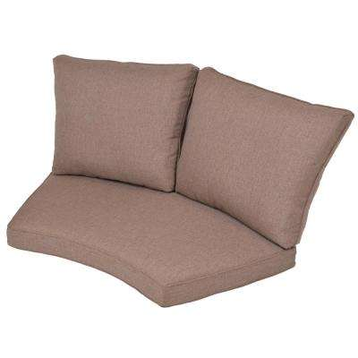 Torquay Saddle Replacement 2 Piece Outdoor Sectional Cushion